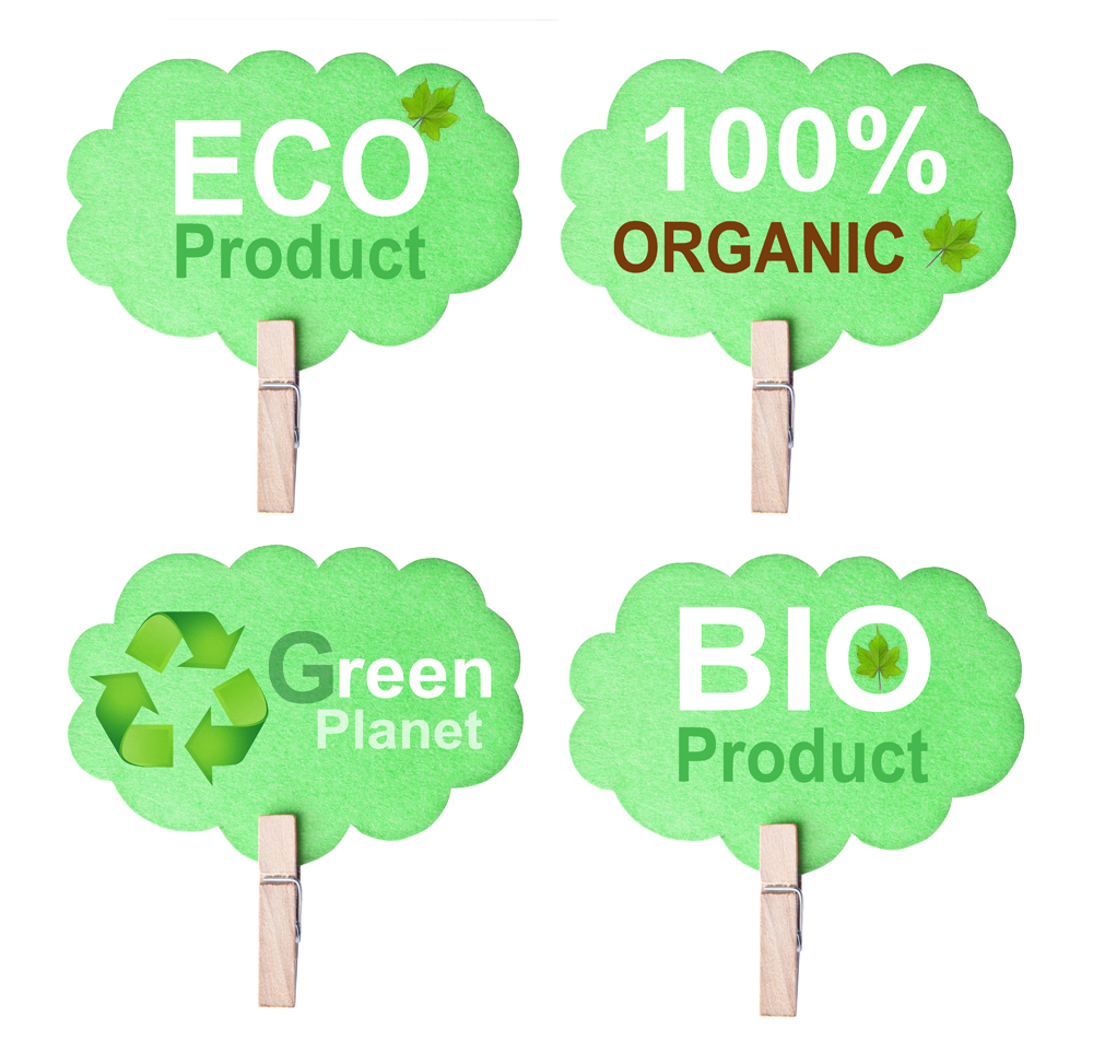Eco friendly label isolated on white background