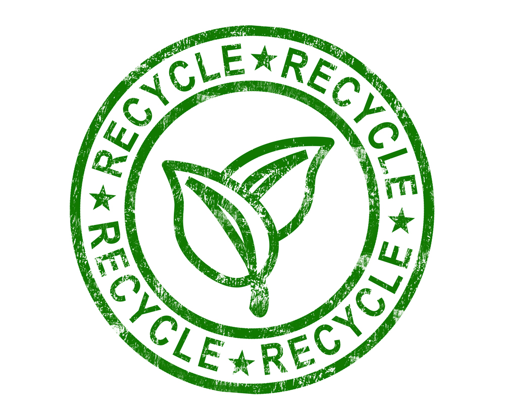 recycle stamp shows renewable and eco friendly